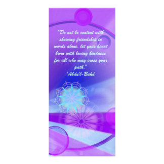 Friendship Ruhi quote Rack Card Template