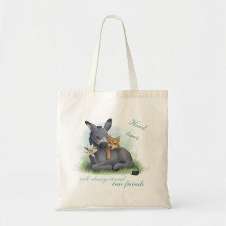 Friendship Shiba Inu & Donkey Tote Bag