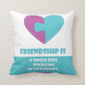 Friendship soul & body quote designed pillow cushions
