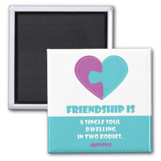 Friendship soul & body quote square Magnet