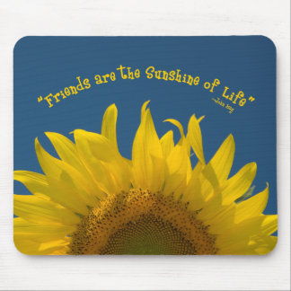 Friendship Sunflower Mouse Pad