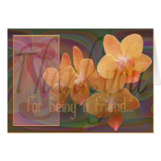 Friendship Thank You Orchids Greeting Card