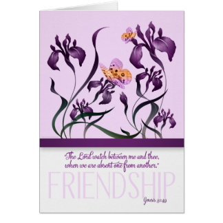 Friendship with Genesis 31 Bible Verse and Purple Card