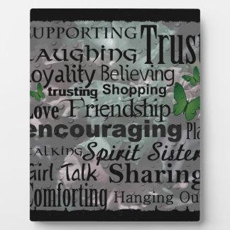 Friendship Word Art Plaque
