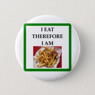 fries 6 cm round badge