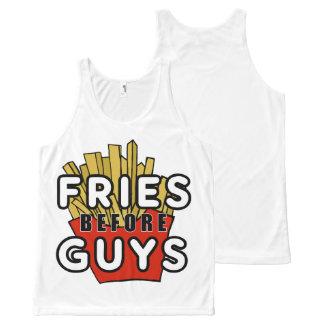 Fries before Guys French fry design tank top