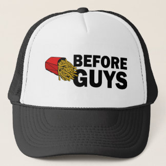 Fries before guys funny hat