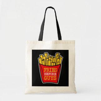 Fries before Guys funny women's bag