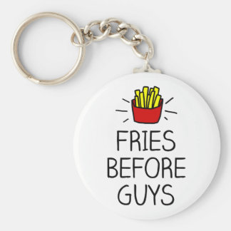 fries before guys with most charming illustration key ring