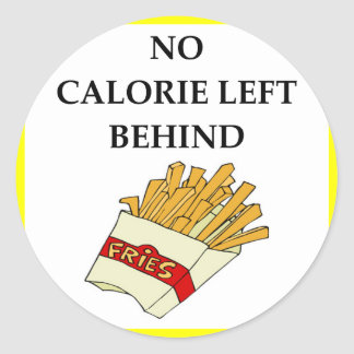 fries classic round sticker