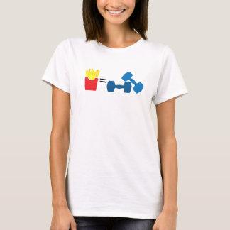 Fries equal exercise fun apparel T-Shirt
