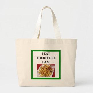 fries large tote bag
