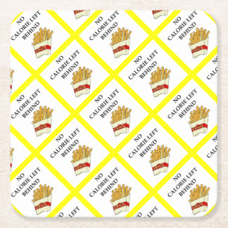 fries square paper coaster