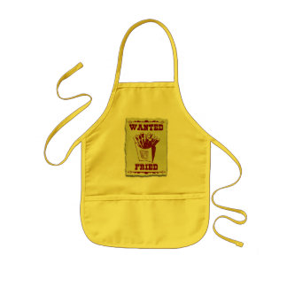 FRIES WANTED DEAD OR ALIVE KIDS APRON