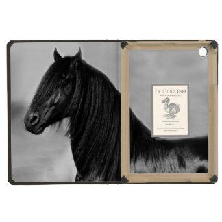 Friesian black stallion horse iPad mini covers