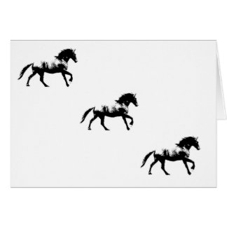 Friesian Cantering Card
