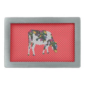 Friesian cow, Friese koe Rectangular Belt Buckle