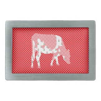 Friesian cow Friese koe Rectangular Belt Buckle