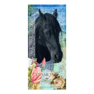 Friesian DIAMOND ~ Calendar Card 10 Cm X 23 Cm Rack Card