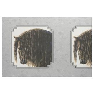 Friesian Draft Horse Silver Gray Fabric