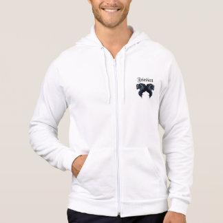 Friesian horse, black stallion beauty hoodie