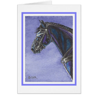 Friesian Horse Blank Card