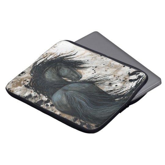 Friesian Horse by BiHrLe Laptop Sleeve