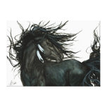 Friesian Horse by Bihrle Stretched Canvas Prints