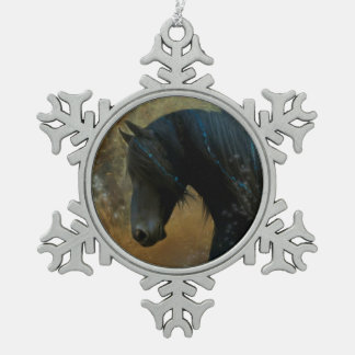Friesian Horse Christmas Ornament