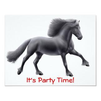Friesian Horse Full Gallop Invitation