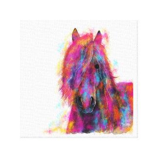 Friesian Horse in CoLouR  ' FRieSiaN WiLD ' Canvas Print