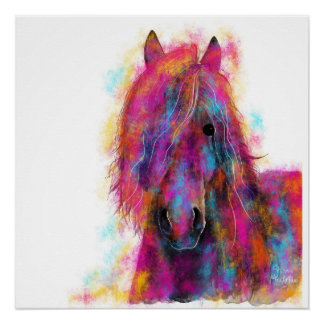 Friesian Horse in CoLouR  ' FRieSiaN WiLD ' Poster