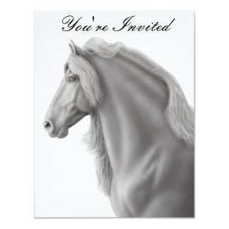 Friesian Horse Invitation