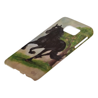Friesian Horse Running Barely There Samsung Case