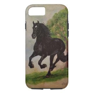 Friesian Horse Running iPhone 7 Tough Case