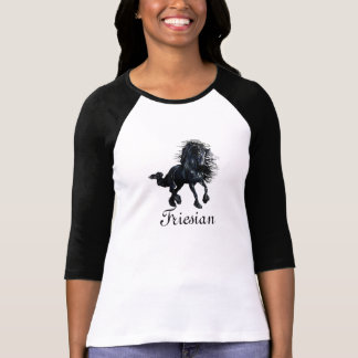 Friesian horse, the black beauty stallion T-Shirt