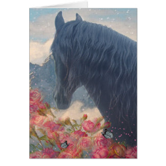 Friesian in Switzerland - Greeting Card