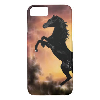 Friesian Stallion rearing iPhone 7 Case
