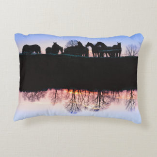Friesian Sunset Reflections Decorative Cushion