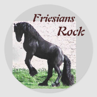 Friesians Rock Stickers