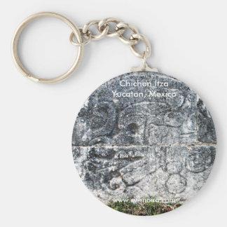 Frieze, ball court, Chichen Itza, Yucatan, Mexico Key Ring