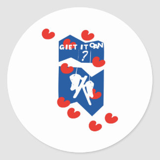 frieze country skating classic round sticker