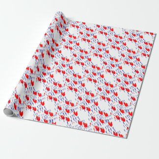 frieze country skating wrapping paper