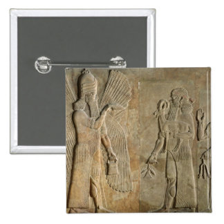 Frieze depicting a winged spirit 15 cm square badge