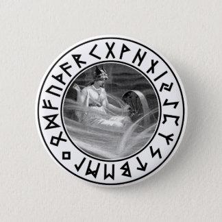 Frigg Rune Shield 6 Cm Round Badge