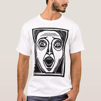 Fright Face by FacePrints T-Shirt