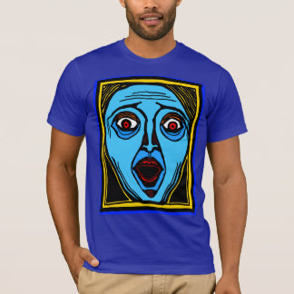 Fright Face (color) tee by FacePrints
