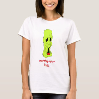 Fright Fest Cartoon Ghoul ladies petite t-shirt