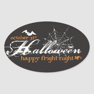 Fright Night Halloween Stickers