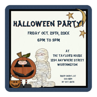 Fright Night Monsters 2 Halloween Party Invite